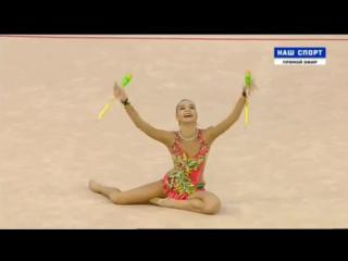 Дина Аверина, финал(булавы)  Чемпионат Европы 2017