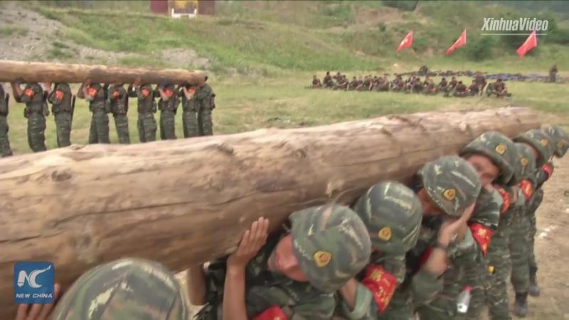 Вот как упражняются отряды специального назначения в Поднебесной.