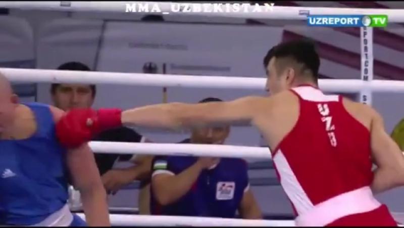Bahodir Jalolov jahon chempionatidagi birinchi jangida raqibini ikki daqiqa ichida nokautga uchratdi