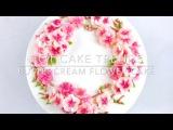 (https://vk.com/lakomkavk) Cherry Blossom buttercream flower wreath cake Olga Zaytseva