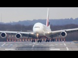 Airbus A380 CROSSWIND Difficulties - Storm
