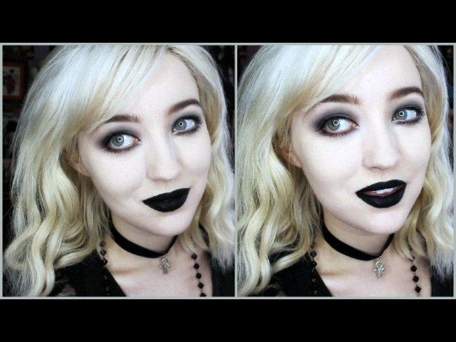 GOTH MAKEUP FOR BEGINNERS! Simple Quick.