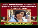 HOSTIGAMIENTO Y PERSECUCIÓN A ANABEL HERNÁNDEZ POR DOCUMENTOS QUE SACA A LUZ DE LA PGR