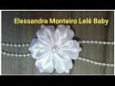 DIY Flor de Cetim 🌼🌼Feito com Fita de Cetim Elessandra Monteiro Lelê Baby V 32