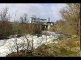 Дамба  открытый шлюз  Кривой Рог  Украина