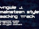 Yngwie J. Malmsteen Stlye Backing Track Neo Classic Hard Rock, Shred, Fast