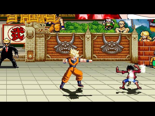 Monkey D Luffy VS Goku in M U G E N