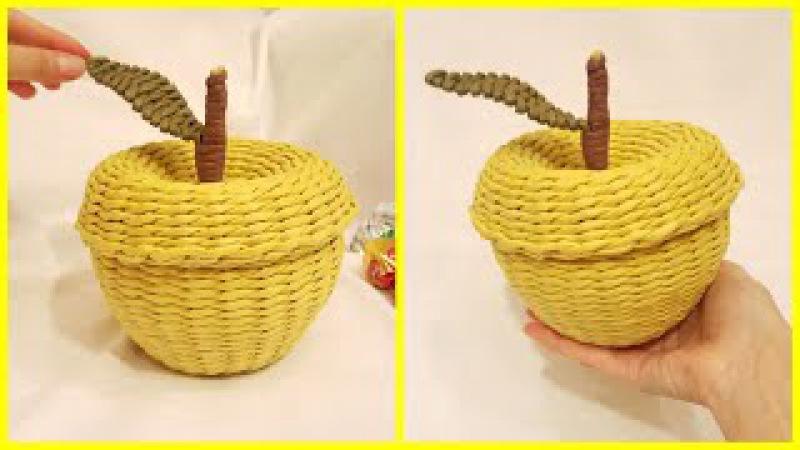 Плетение яблока-шкатулки из бумажной лозы! Запись трансляции! 21.09