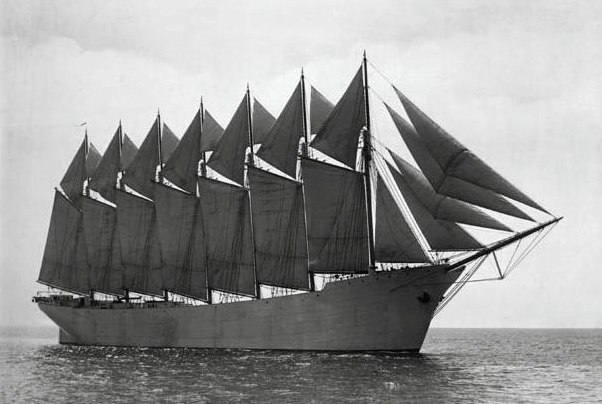 шхуна «Томас Лоусон» в 1907 году