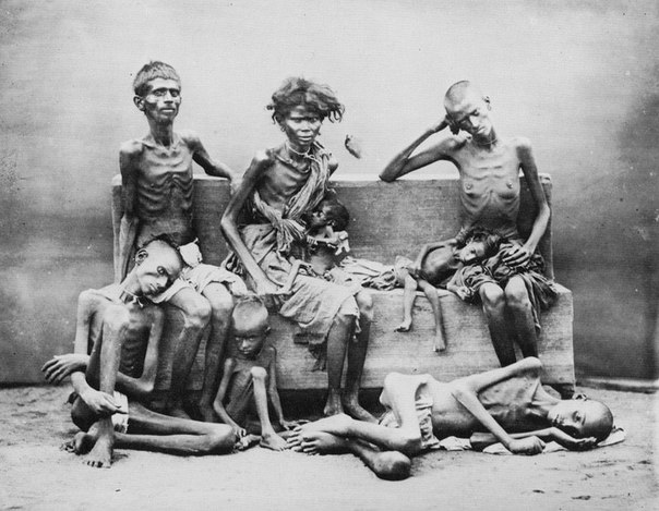 Бенгалия, 1943 Снимки, сделанные во время голода