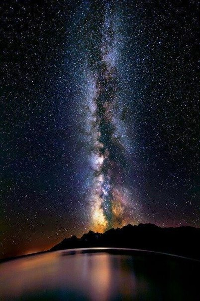 Млечный Путь. Озеро Титикака, Южная Америка.