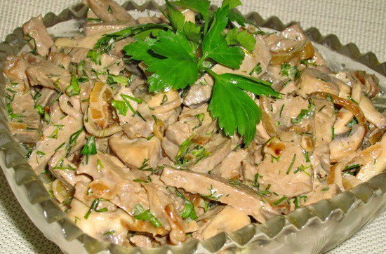 салат с говяжьей печенью рецепты с фото простые