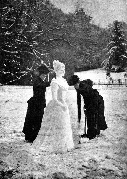 Элегантная снежная леди, 1891 г.