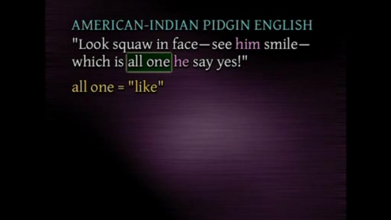 27_Language Starts Over - Pidgins