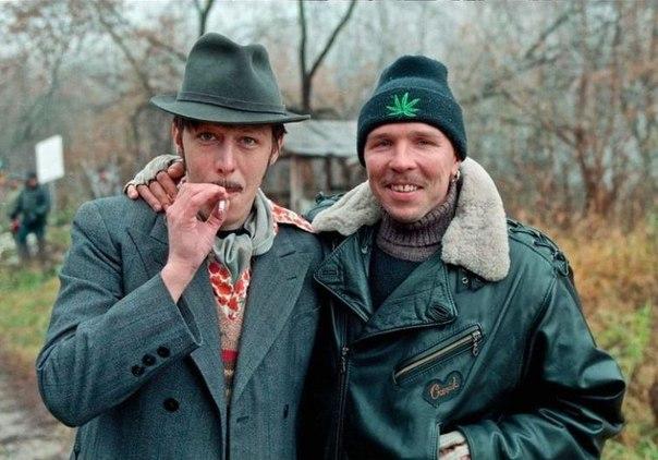 Михаил Ефремов и Гарик Сукачёв, 1996 год.