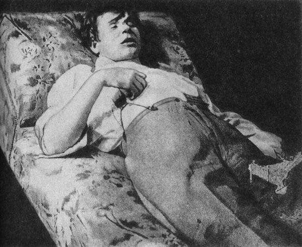 Посмертное фото Сергея Есенина, 1925 г.