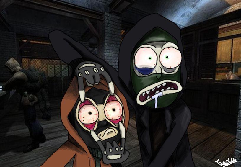 Рик и Морти во вселенной Сталкера