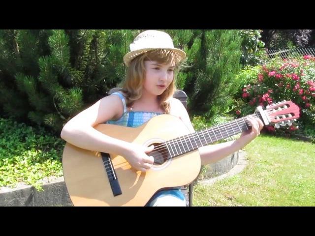 Детская песня Голубой вагон на немецком языке