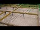 Строительство каркасного дома 8х10 м своими руками. Часть 1. Обвязка свайного фунд...