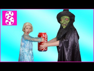 БАБА ЯГА АТАКУЕТ ЭЛЬЗУ Война Bad Baby за кока кола 😡 BAB Yaga ATTACKS Frozen War Bad Baby Coca Cola