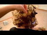 Объёмные кудри на короткие волосы утюжком