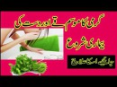 Garmi ka mosm or vomting or dahria ki bemari tip in urdu 2017