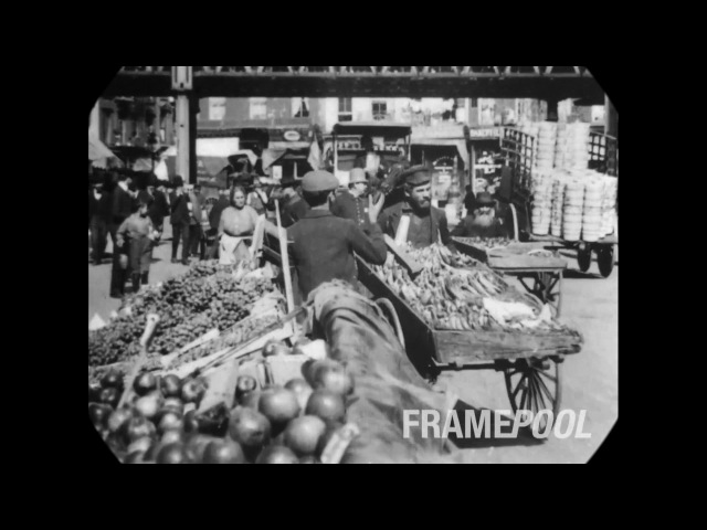 1903 - Scenes in New York City (speed corrected w/ added sound)