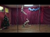 Pole-dance  дети Wellness - студия Дарьи Беловой Карина и София