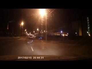 Кетай регистратор-зеркало ночью