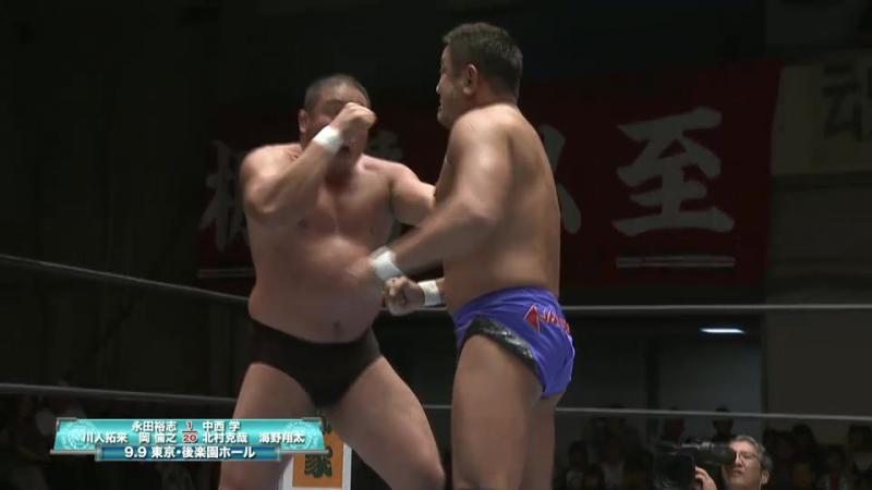 Manabu Nakanishi, Katsuya Kitamura, Shota Umino vs. Yuji Nagata, Hirai Kawato, Tomoyuki Oka (NJPW - Road to DESTRUCTION 2017)