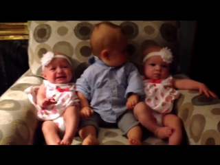 Confused Brother Meets his Twin Sisters for the First Time