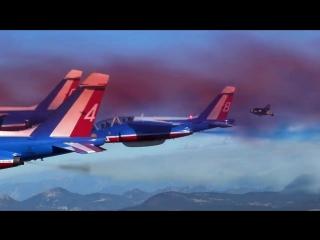 Трое экстремалов на реактивных крыльях пролетели в одном строю с самолётами