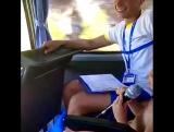 Дочка поёт песню в Турции в автобусе