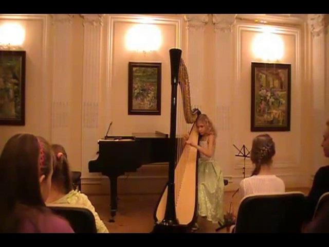 M. Glinka - Nocturne Razluka. (Alisa Sadikova 12 years old harpist)