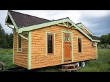 Well-Crafted Tiny House with Dutch Stained Glass Door Window  Small Home Design Ideas