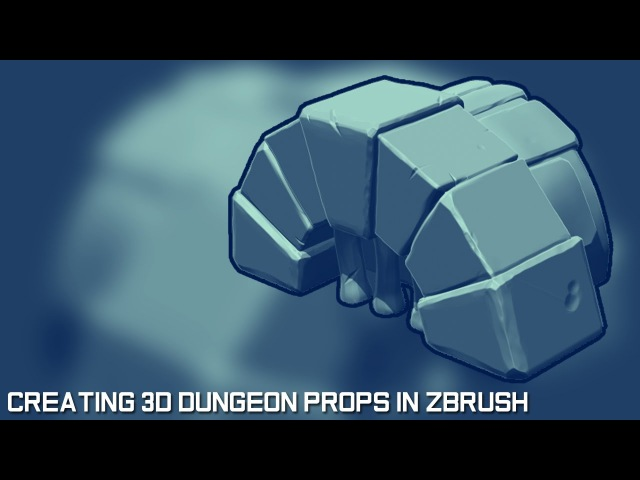 Creating 3D Game Props in Zbrush - The Dungeon Sewer Drain