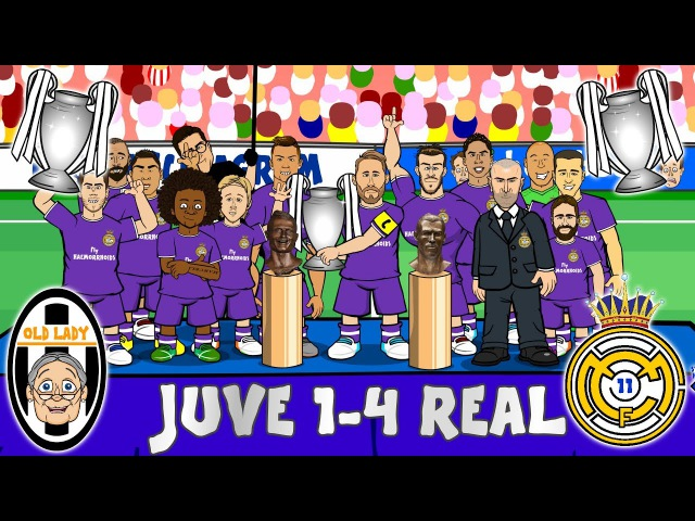 JUVE 1-4 REAL MADRID! Real Duodecima! Real win the Champions League! (Parody Goals Highlights)