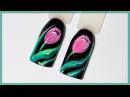 Дизайн ногтей тюльпаны гель лаками | Весенний маникюр маникюр тюльпан