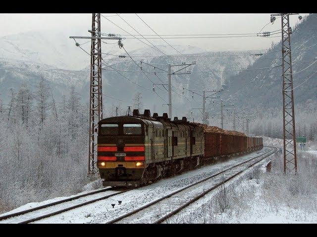 3ТЭ10У-0002 (Хани) / 3TE10U-0002 (RZD, Khani). BAM winter session.