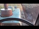 вспашка ХТЗ Т 150 К вид из кабины