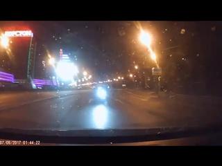 Момент аварии аварии около Корстона - запись с видеорегистратора / 7.09