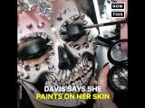 Художница Ванесса Дейвис использует лица моделей для создания устрашающих и прекрасных картин.