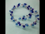 Блестящая веточка в прическу в голубом и синем цвете! 700р.