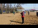 Волейбол на Крестовском острове.4 апреля 2017года