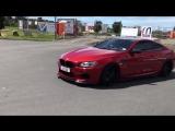 Modified BMW M6 Doing Burnout