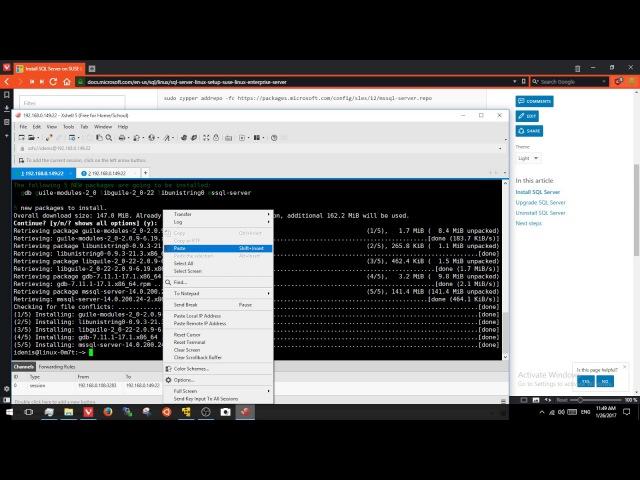 Установка SQL Server vNext CTP 1.2 на SUSE Linux Enterprise Server (SLES) v12 SP2