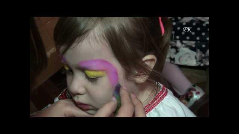 Кліп - Аквагрим гарне доповнення до дитячого свята - Clip - face painting for the holiday
