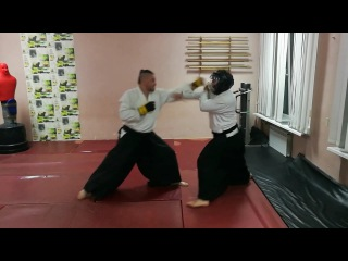 Aikido task work from two punch