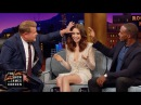 Lily Collins Gives Anthony Mackie James Eyebrow Access