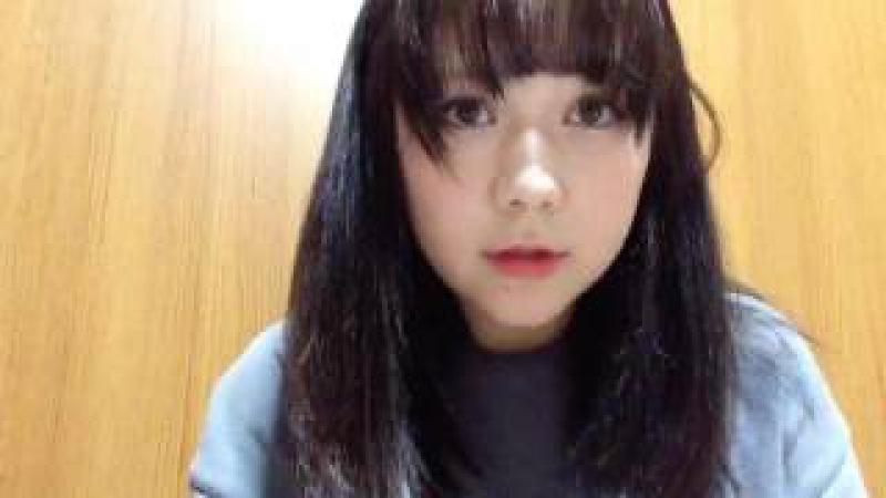 2017年06月08日 村重杏奈(HKT48 チームKIV) SHOWROOM あーにゃ 21:49